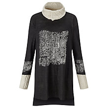 Buy Crea Concept Long Line Jumper, Black Online at johnlewis.com