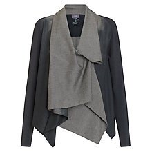 Buy Crea Concept Colourblock Waterfall Drape Jacket, Grey/Taupe Online at johnlewis.com