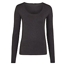Buy Crea Concept Long Sleeve Jersey Top, Grey Online at johnlewis.com
