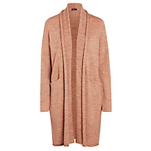 Buy Crea Concept Wool Mix Longline Cardigan, Pink Online at johnlewis.com