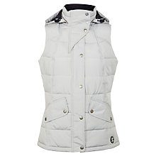 Buy Barbour Landry Gilet, Silver Ice/Navy Online at johnlewis.com