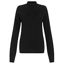 Buy Crea Concept Roll Neck Jumper, Black Online at johnlewis.com