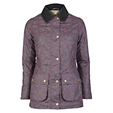 Buy Barbour Ruskin Printed Wax Jacket, Acanthus Online at johnlewis.com