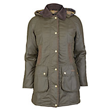 Buy Barbour Bower Wax Jacket, Olive Online at johnlewis.com