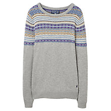 Buy Joules Christy Fairisle Jumper, Grey Online at johnlewis.com