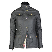 Buy Barbour Ruskin Wax Jacket, Black Online at johnlewis.com