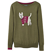 Buy Joules Marsha Scottie Jumper, Fennel Online at johnlewis.com