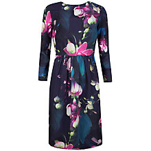 Buy Ted Baker Ilisa Floral Printed Dress, Dark Blue Online at johnlewis.com
