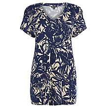 Buy Warehouse Pampus Print T-Shirt, Blue Online at johnlewis.com