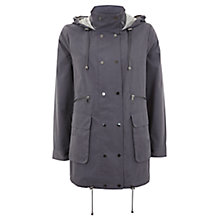Buy Mint Velvet Double Front Parka, Graphite Online at johnlewis.com