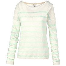 Buy Fat Face Billacombe Stripe Jumper, Ivory Online at johnlewis.com