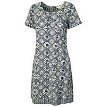 Buy Fat Face Tenby Diamond Dress, Ivory/Indigo Online at johnlewis.com