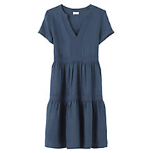 Buy East Lace Tiered Linen Dress, Lapis Online at johnlewis.com