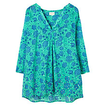 Buy East Kasha Print Blouse, Lagoon Online at johnlewis.com
