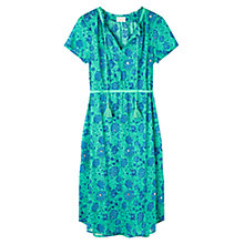 Buy East Kasha Print Cotton Dress, Lagoon Online at johnlewis.com