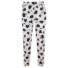Buy Mint Velvet Esma Print Cotton Blend Capri Trousers, Multi Online at johnlewis.com