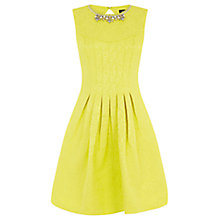 Buy Oasis Sophie Embellished Dress, Lemon Zest Online at johnlewis.com