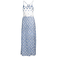 Buy Fat Face Temple Tile Print Maxi Dress, Blue Online at johnlewis.com
