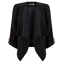 Buy Mint Velvet Asymmetric Neck Biker Jacket, Black Online at johnlewis.com