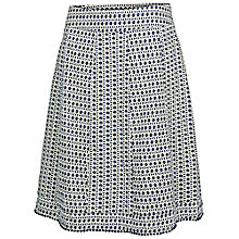 Buy Fat Face Claire Mini Diamond Skirt, Indigo Online at johnlewis.com