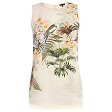 Buy Warehouse Exotic Bird Print Top, Cream Online at johnlewis.com