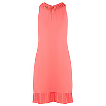 Buy Oasis Petal Embellished Tilly Dress, Coral Online at johnlewis.com