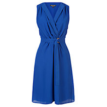 Buy Warehouse Open Collar Ring Dress, Electric Blue Online at johnlewis.com