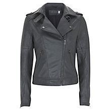 Buy Mint Velvet Double Collar Biker Jacket, Slate Online at johnlewis.com