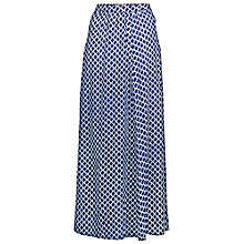 Buy Fat Face Brixham Batik Waves Maxi Skirt, Indigo Online at johnlewis.com