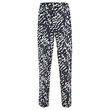 Buy Mint Velvet Sara Print Cotton Blend Capri Trousers, Multi Online at johnlewis.com