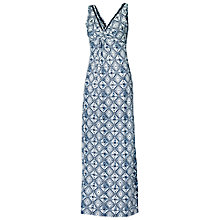 Buy Fat Face Makita Diamond Print Dress, Navy Online at johnlewis.com
