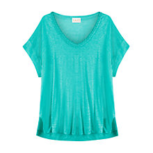 Buy East Plait Detail Linen Top, Kingfisher Online at johnlewis.com