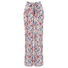 Buy Oasis Rainbow Paisley Wide Leg Trousers, Multi Online at johnlewis.com
