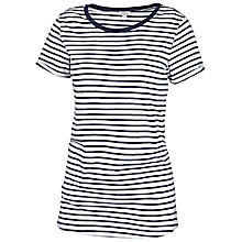 Buy Fat Face Crew Stripe T-Shirt, Navy Online at johnlewis.com
