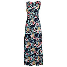 Buy Fat Face Bea Pineapple Punch Maxi Dress, Navy Online at johnlewis.com