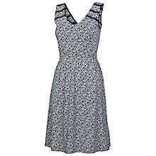 Buy Fat Face Lambourne Flower Forest Dress, Navy Online at johnlewis.com