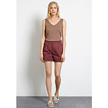 Buy Warehouse Cotton Sateen Shorts, Red Online at johnlewis.com