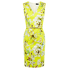 Buy Oasis Pencil Cotton Dress, Lemon Zest Online at johnlewis.com