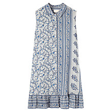 Buy East Virginia Ruffle Hem Tunic, Smoke Online at johnlewis.com