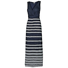 Buy Fat Face Bea Stripe Maxi Dress, Navy Online at johnlewis.com