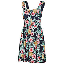 Buy Fat Face Hemsley Pineapple Punch Dress, Navy Online at johnlewis.com
