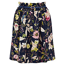 Buy Oasis V&A Swanfield Skirt, Navy Online at johnlewis.com