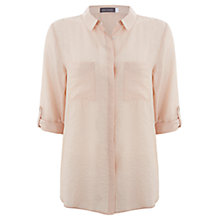 Buy Mint Velvet Slim Shirt, Wild Aster Online at johnlewis.com
