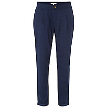 Buy White Stuff Rhodes Geo Print Trousers, Navy Online at johnlewis.com