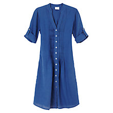 Buy East Pintuck Linen Shirt Dress, Navy Online at johnlewis.com