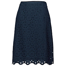 Buy Fat Face Claire Scallop Hem Skirt, Navy Online at johnlewis.com