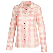 Buy Fat Face Classic Fit Check Shirt, Peach Shell Online at johnlewis.com