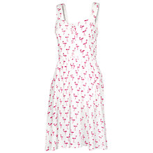 Buy Fat Face Hemsley Flamingo Dress, White Online at johnlewis.com