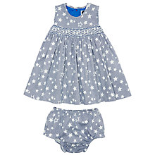Buy Question Everything Baby New York Baby Hand Smocked Dress, Navy Online at johnlewis.com