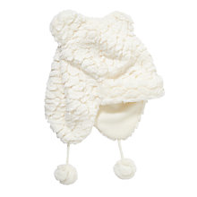 Buy John Lewis Faux Fur Trapper Hat, Cream Online at johnlewis.com